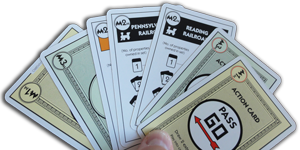 Monopoly Deal Hand with Seven Cards