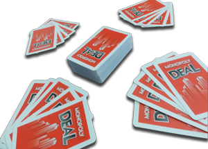 Monopoly Deal Dealing Five Cards