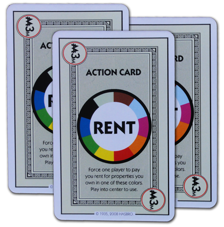 Monopoly Deal All Color Wild Rent Card