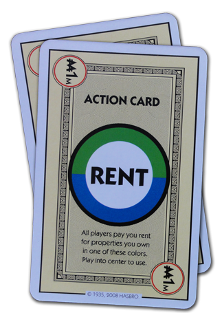 Monopoly Deal Blue And Green Rent Card