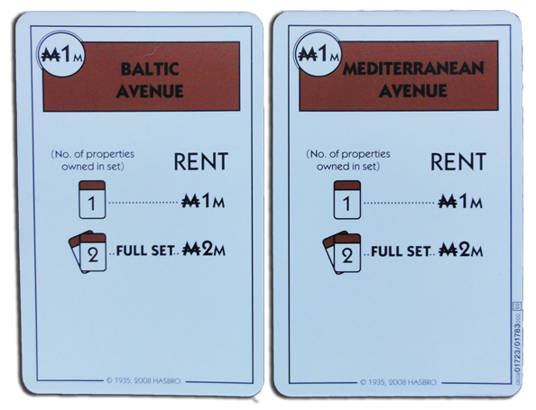 Monopoly Deal Brown Property Card