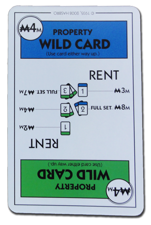 Monopoly Deal Dark Blue And Green Wildcard Card