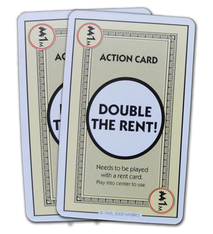 Monopoly Deal Double The Rent Action Card