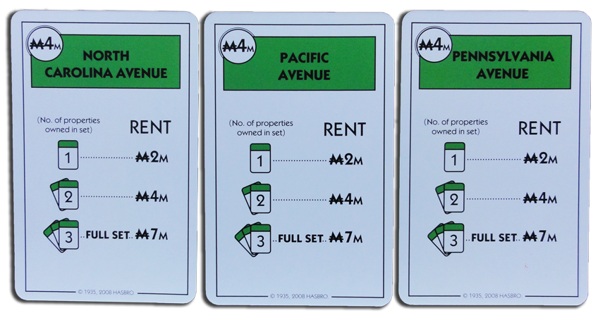Monopoly Deal Green Property Card