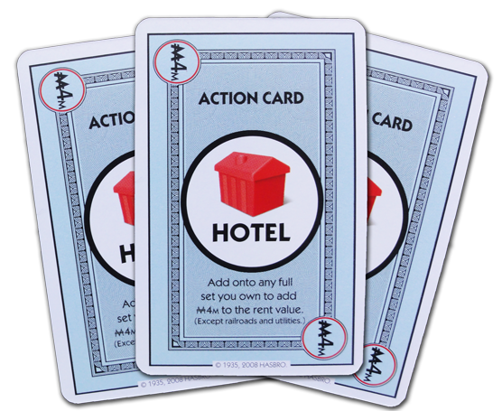 Cards in the monopoly deal deck monopoly deal hotel action card bookmarktalkfo Choice Image