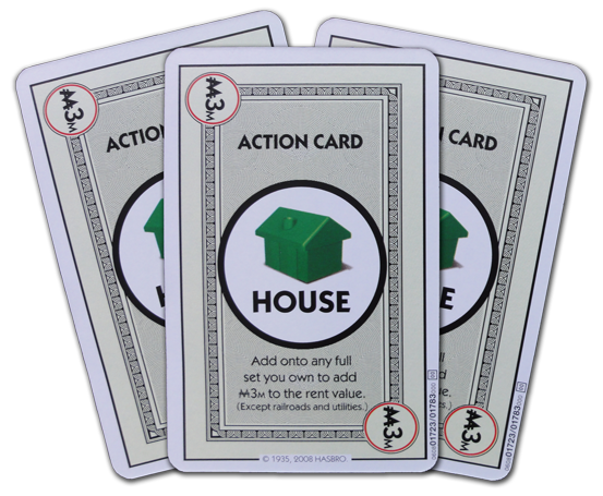 Monopoly Deal House Action Card