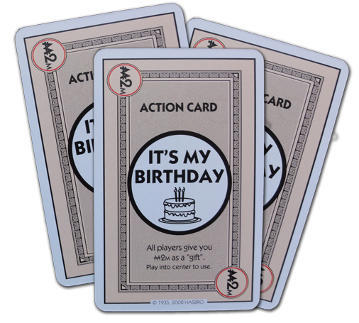 Cards in the monopoly deal deck monopoly deal its my birthday action card bookmarktalkfo Choice Image