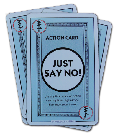 Cards in the monopoly deal deck birthday action card monopoly deal just say no action card bookmarktalkfo Choice Image