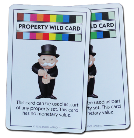 Monopoly Deal Multicolor Wildcard Card