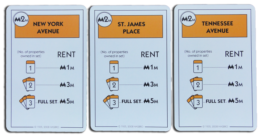 Monopoly Deal Orange Property Card