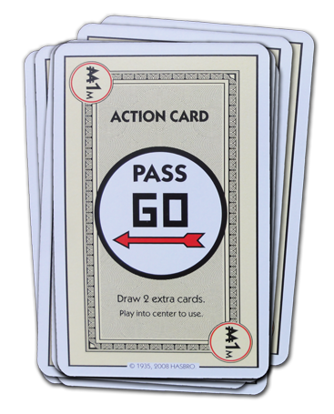 Monopoly Deal Pass Go Action Card