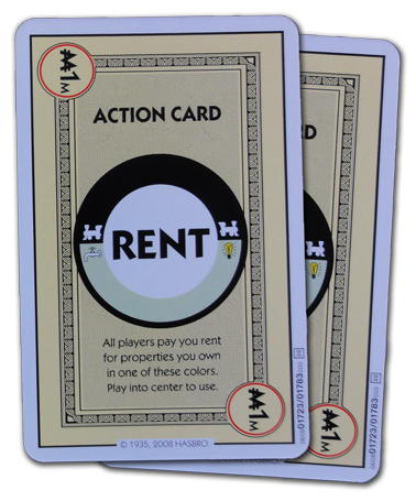 Monopoly Deal Railroad And Utility Rent Card