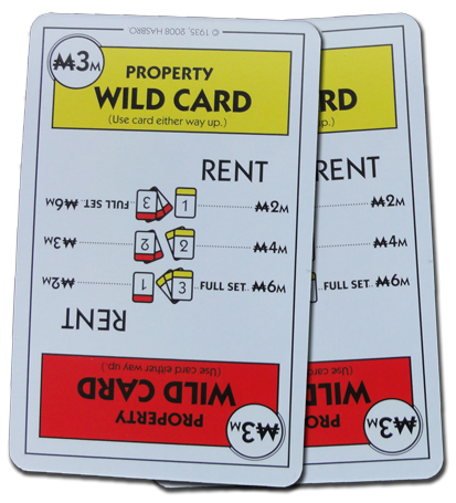 Monopoly Deal Red And Yellow Wildcard Card