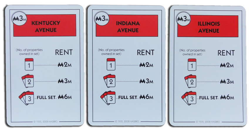 Monopoly Deal Red Property Card